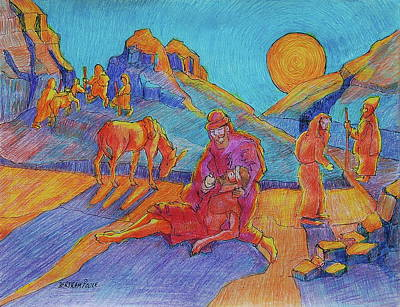 Good Samaritan Parable Painting Bertram Poole Poster