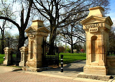 Goodale Park Gateway Poster by Laurel Talabere