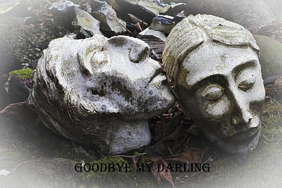 Goodbye My Darling Text Poster