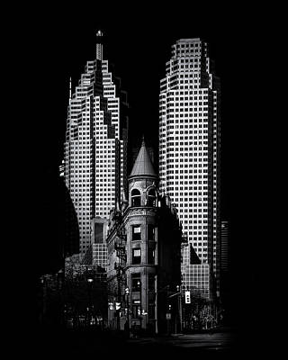Poster featuring the photograph Gooderham Flatiron Building And Toronto Downtown No 2 by Brian Carson