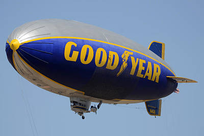 Goodyear Blimp Spirit Of Innovation Goodyear Arizona September 13 2015 Poster