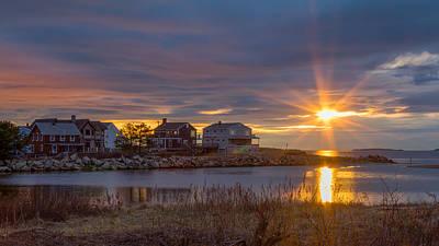 Goosefare Brook Sunrise - Saco Maine Poster