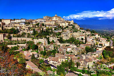 Poster featuring the photograph Gordes by Olivier Le Queinec