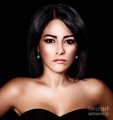 Gorgeous Woman Portrait Poster