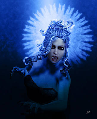 Gorgon Blue Poster