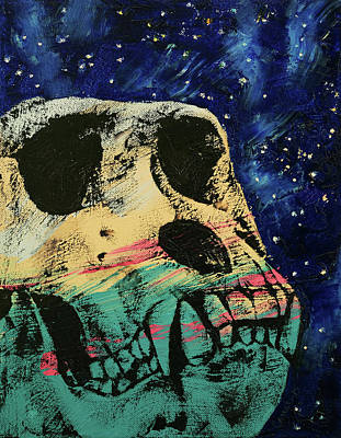 Gorilla Skull Poster by Michael Creese