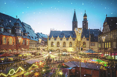 Goslar Christmas Market Poster by Steffen Gierok