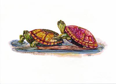 Spring Turtles Poster