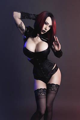 Goth Goddess, Emily Astrom Poster