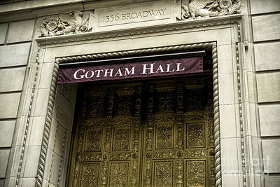 Gotham Hall Poster by John Rizzuto