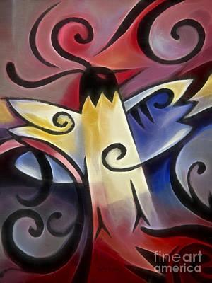 Gothic Bird Poster by Lutz Baar