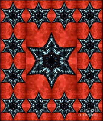 Gothic Black Stars - Digital Art Poster