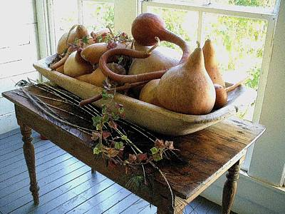 Gourds In Bowl Poster