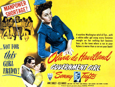 Government Girl, Olivia De Havilland Poster by Everett