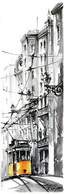 Graca Lisbon Tram Poster
