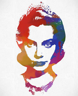 Grace Kelly Watercolor Poster