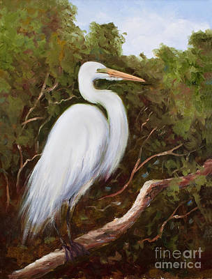 Graceful Egret Poster