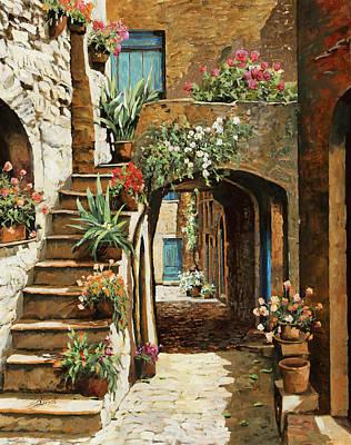 Gradini In Cortile Poster by Guido Borelli