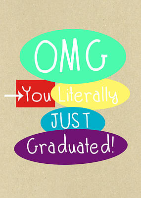 Graduation Card Poster by Linda Woods