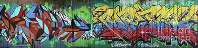 Graffiti Crazy Poster by Chuck Kuhn