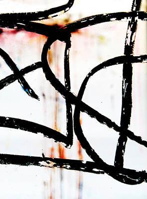 Graffiti On Glass Poster