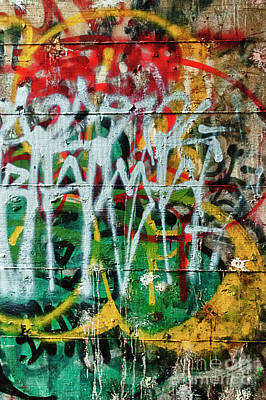 Poster featuring the photograph Graffiti Scramble by Terry Rowe
