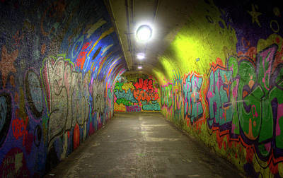 Graffiti Tunnel Poster by Mark Andrew Thomas