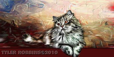 Grafitti Kitty Poster by Tyler Robbins