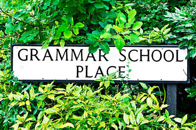 Grammer School Place Poster by Tom Gowanlock