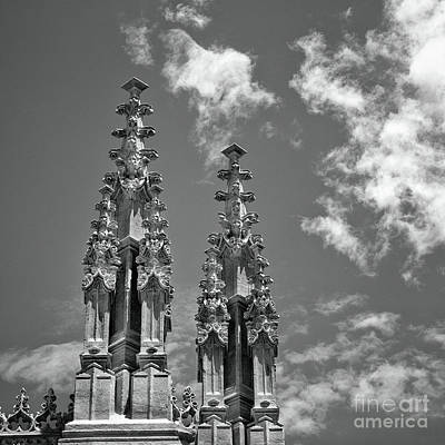 Granada Cathedral Roof Details Bw Poster