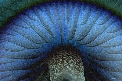 Grand Blue Mushroom Poster