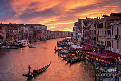 Grand Canal Sunset Poster by Brian Jannsen