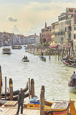 Grand Canal - The Most Famous Canal In Venice Poster