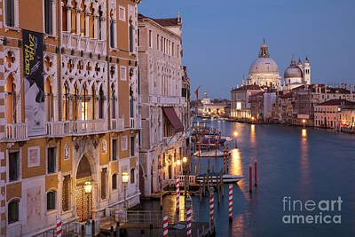 Poster featuring the photograph Grand Canal Twilight by Brian Jannsen
