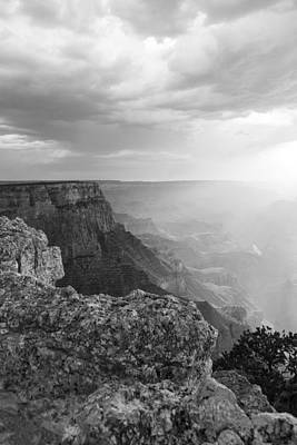 Grand Canyon Black And White Poster by John McGraw