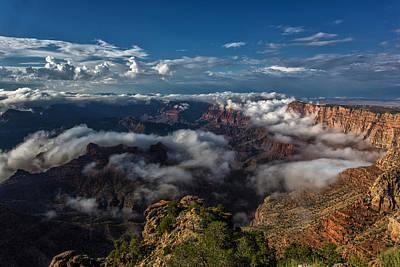 Grand Canyon Fog Poster