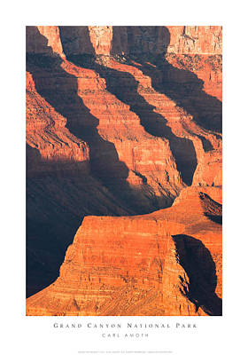 Grand Canyon Glow Poster by Carl Amoth