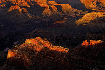 Grand Canyon Light And Shadows Poster by Andrew Soundarajan