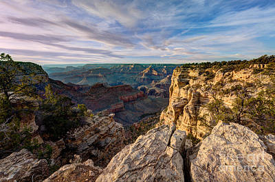 Grand Canyon National Park Spring Sunset Poster
