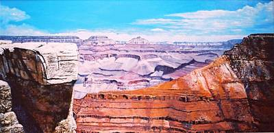 Poster featuring the painting Grand Canyon Scene by M Diane Bonaparte