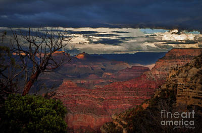 Grand Canyon Storm Clouds Poster by John A Rodriguez