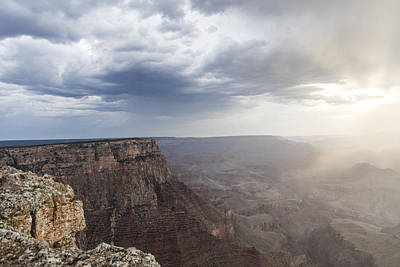 Grand Canyon Sunset Ana Clouds  Poster by John McGraw