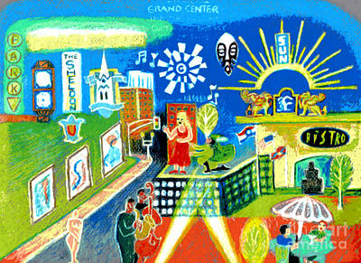 Grand Center St. Louis Poster by Genevieve Esson