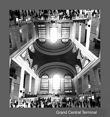 Poster featuring the photograph Grand Central Terminal Mirrored by Diana Angstadt