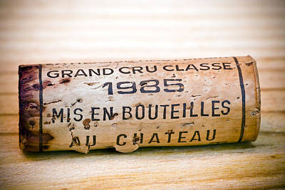 Grand Cru Classe Bordeaux Wine Cork Poster by Frank Tschakert