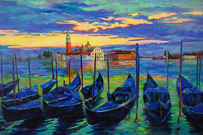 Poster featuring the painting Grand Finale In Venice by Chris Brandley