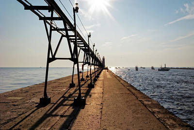 Poster featuring the photograph Grand Haven Pier by Lars Lentz