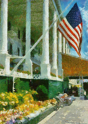 Grand Hotel Mackinac Island Poster by Michelle Calkins