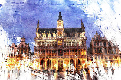 Grand Place Poster by Andrea Barbieri