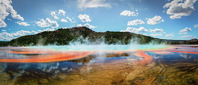 Grand Prismatic Spring Pano Poster by Jeremy Clinard